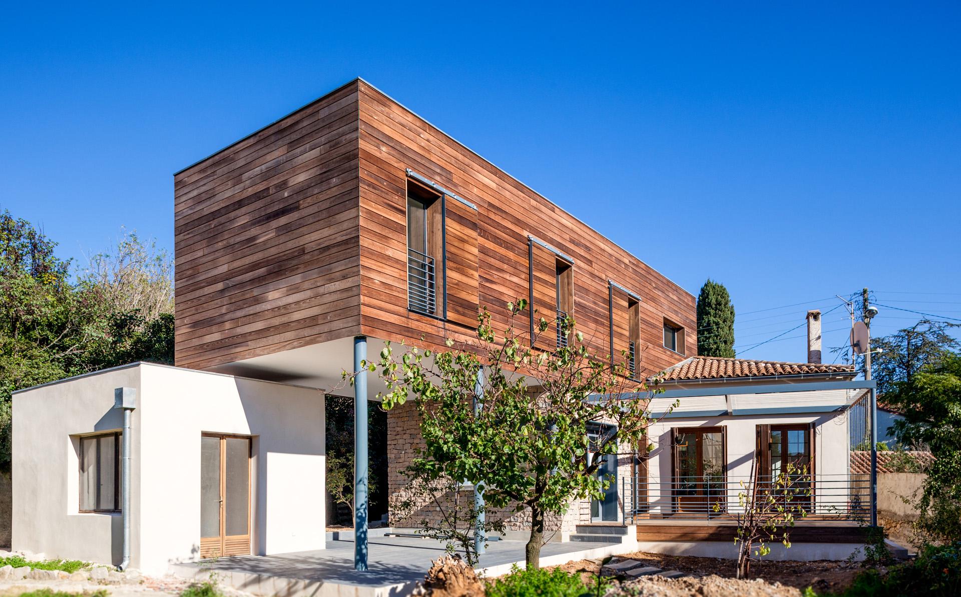 Surelevation maison bois montpellier for Budget extension maison