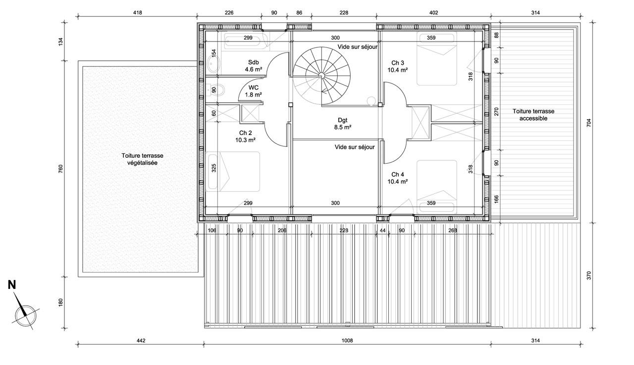Plan disponibilites maison h lhenry architecture
