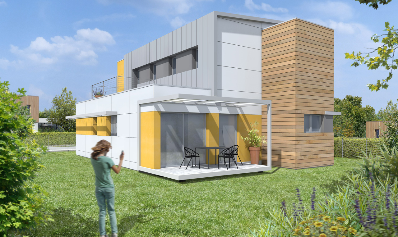 Plan maison container home design architecture for Maison moderne container