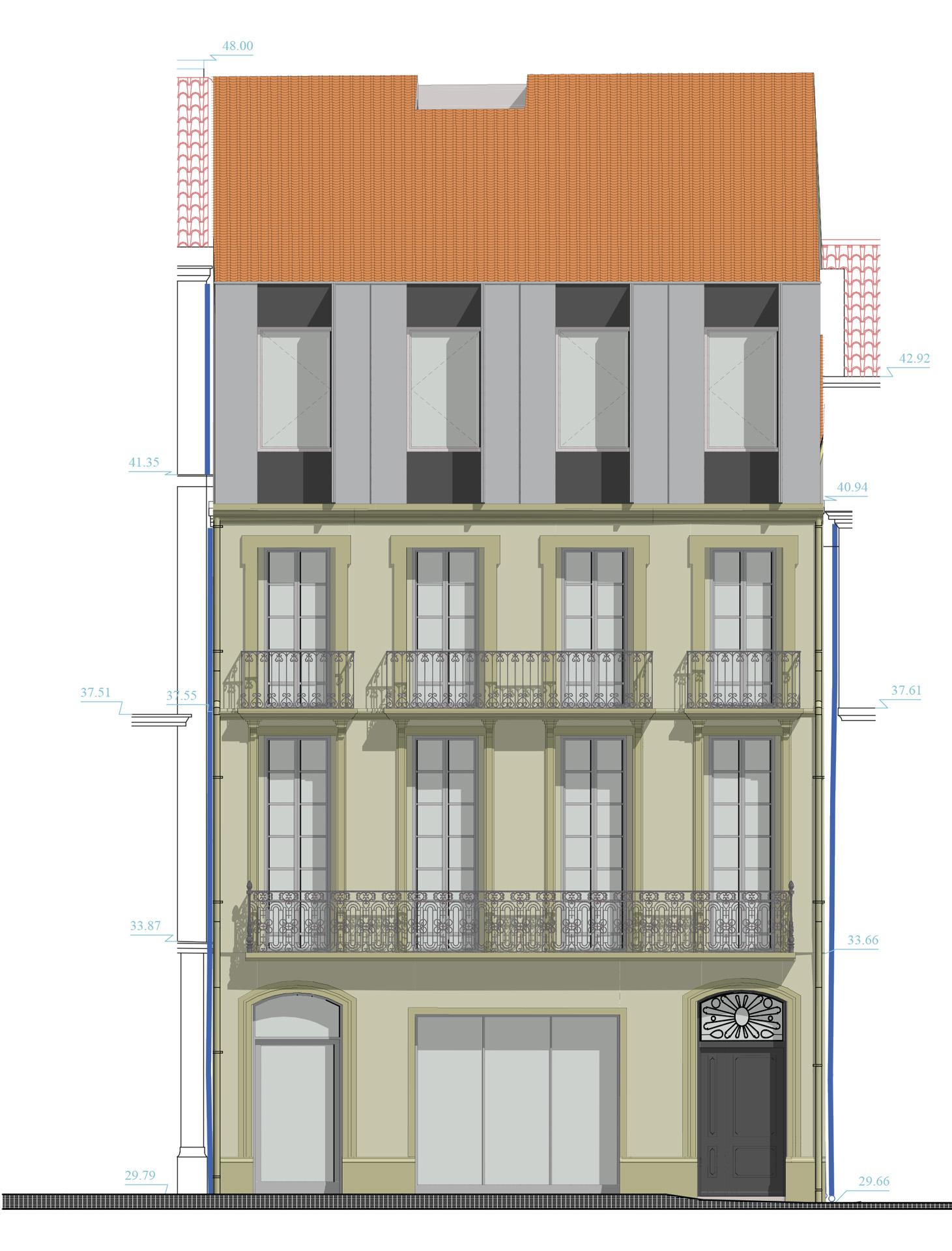 immeuble bd jeu de paume lhenry architecture. Black Bedroom Furniture Sets. Home Design Ideas